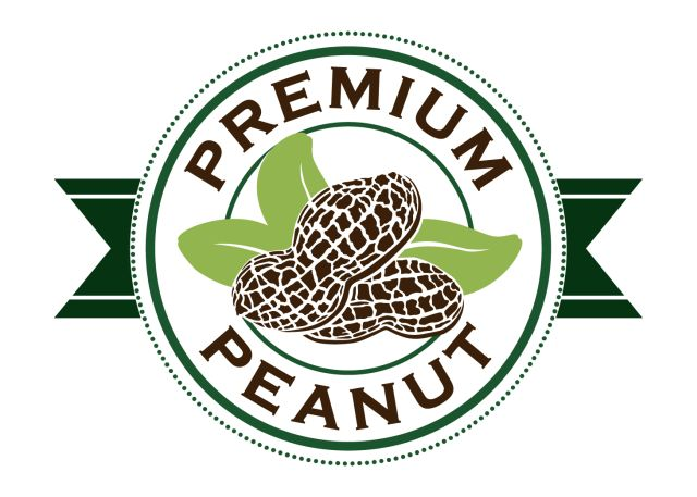 Premium peanut logo for website