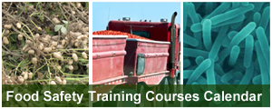 Food Safety Training Calendar