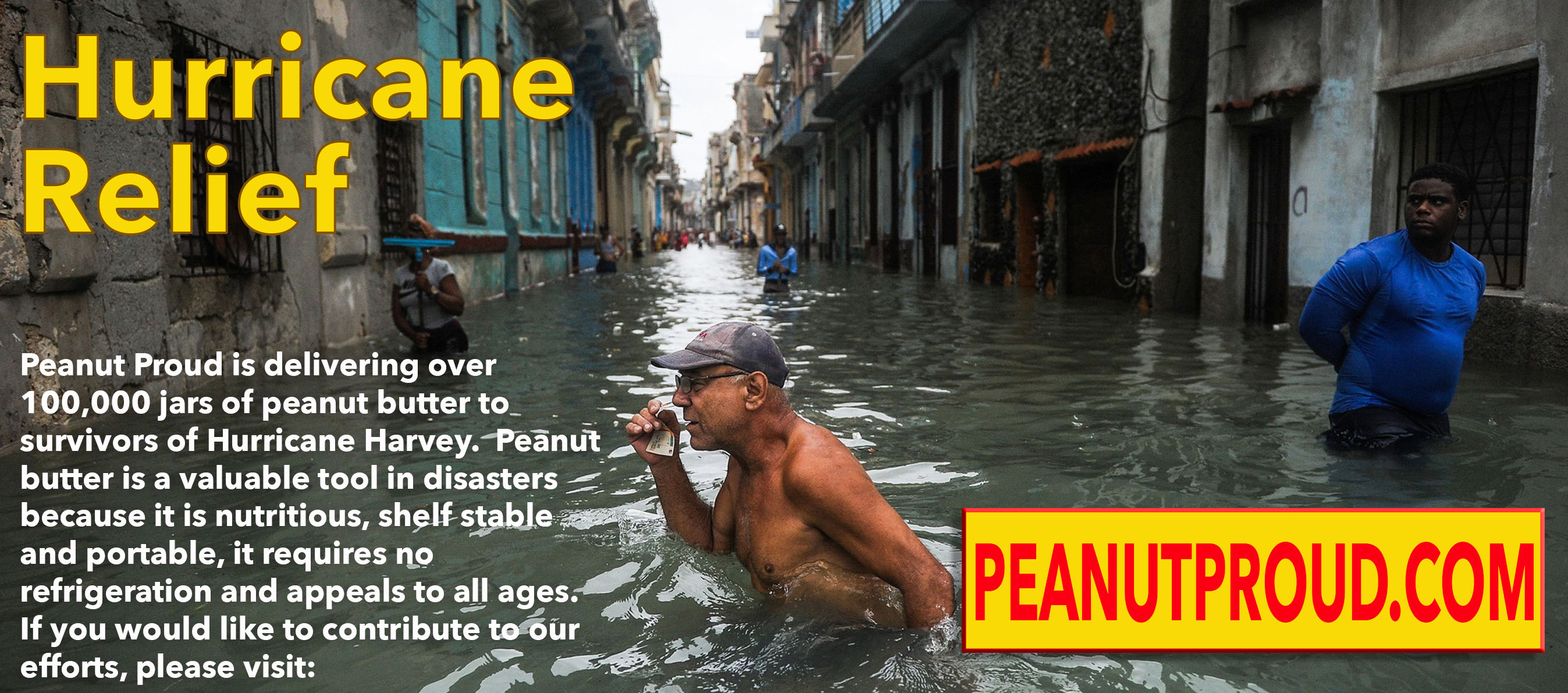 Peanut Proud Hurricane Harvey