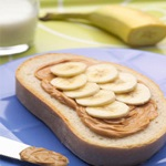 Peanut Butter and Banana Open-Faced Sandwich